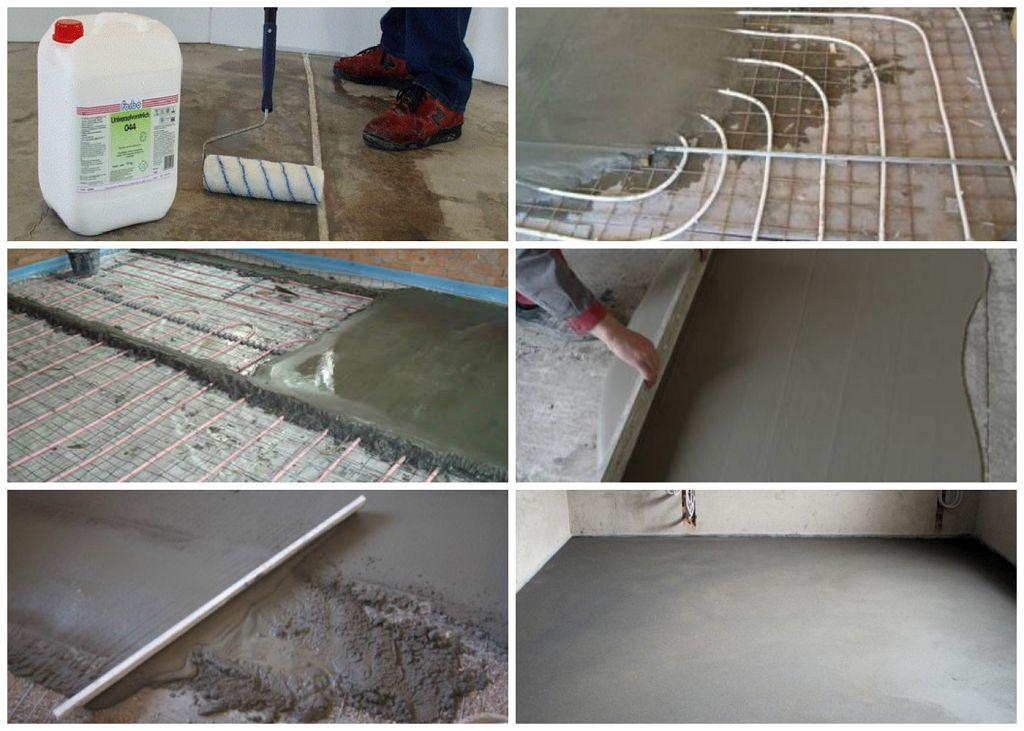 Устройство бетонного пола своими руками 94