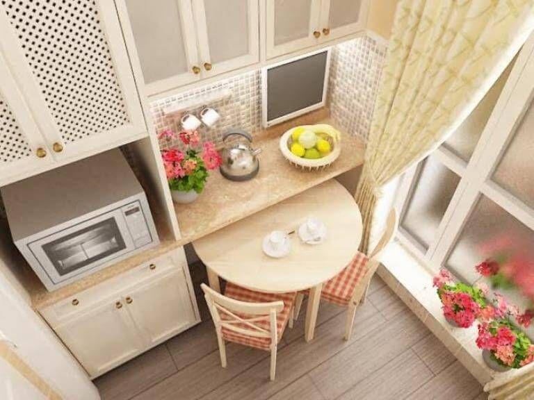 Дизайн маленькой кухни 5 кв м с холодильником