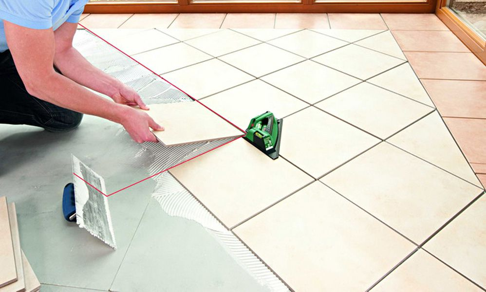 Способы укладки плитки на полы