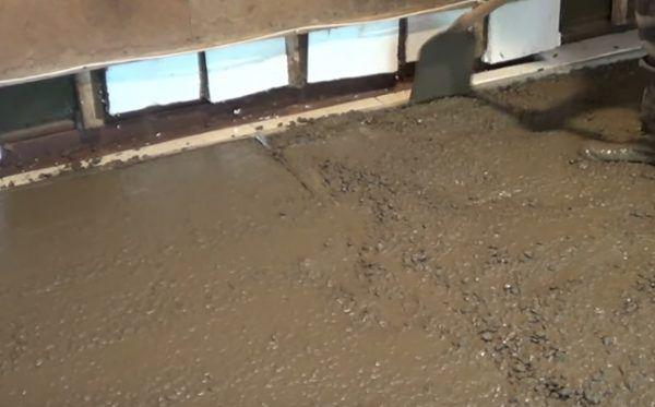 Распределение бетона