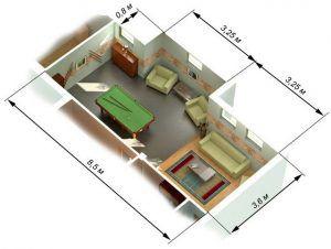 Размеры помещения