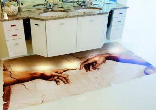 3D пол на кухне