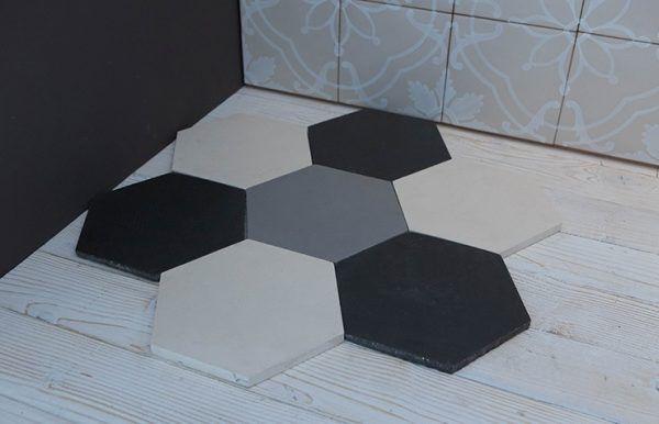 Чёрно-белая шестиугольная плитка от CottoVietri (Италия)
