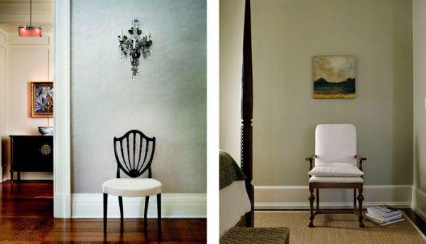 Еще пара примеров белого плинтуса в интерьере