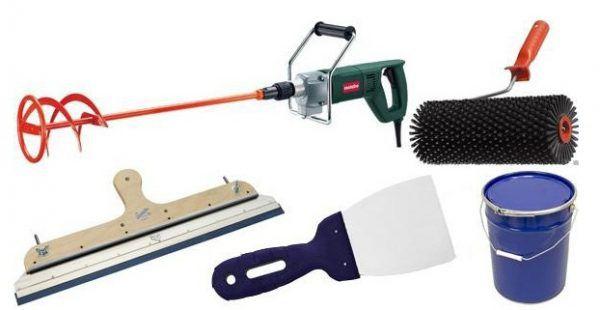 Инструменты для заливки наливного пола