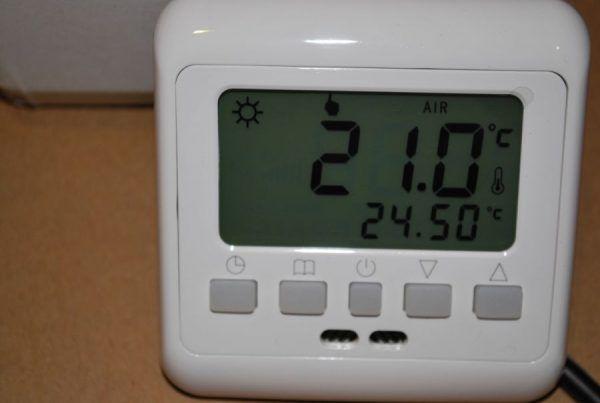 Компактный удобный терморегулятор теплого пола Termo+ A008 16A с программированием на неделю