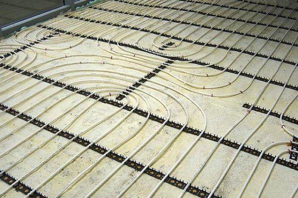 Монтаж трубной системы теплый пол (без стяжки)