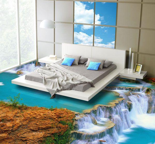 Наливной 3d пол в спальне