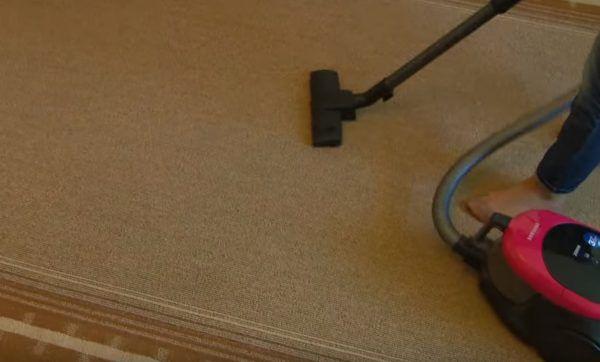 Повторная обработка покрытия пылесосом