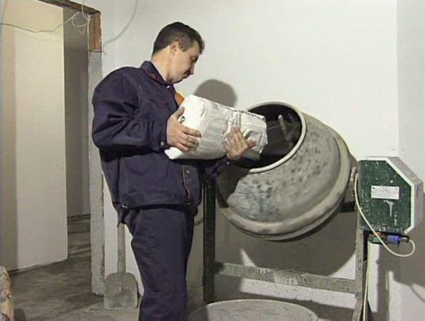 Приготовление раствора для стяжки