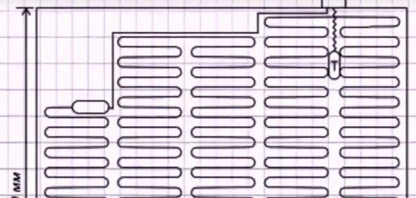 Пример схемы теплого пола