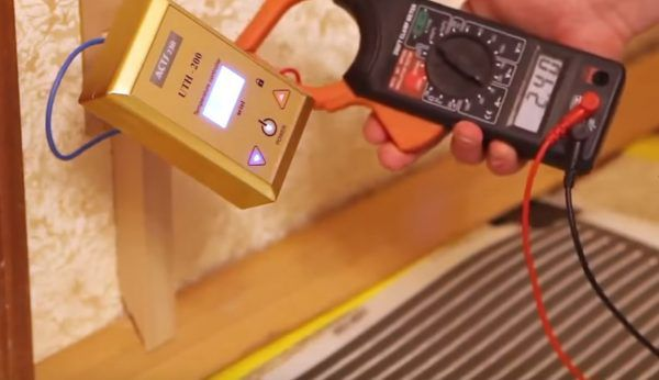Процесс подключения терморегулятора