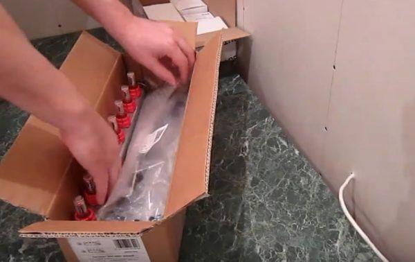 Распаковка гребенки