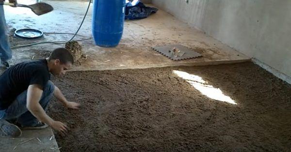 Распределение первого слоя глины