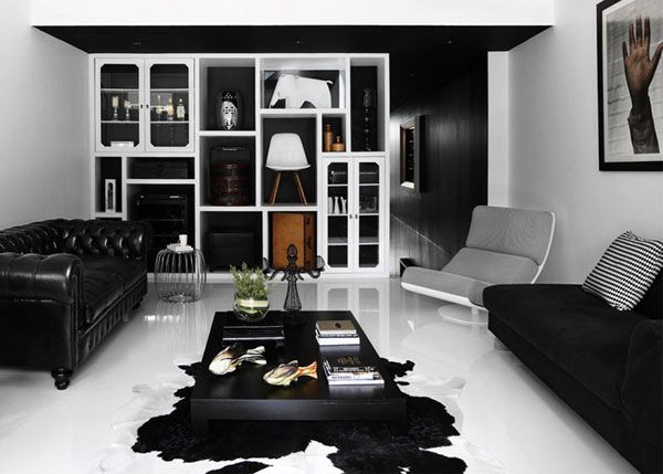 Современный черно-белый интерьер