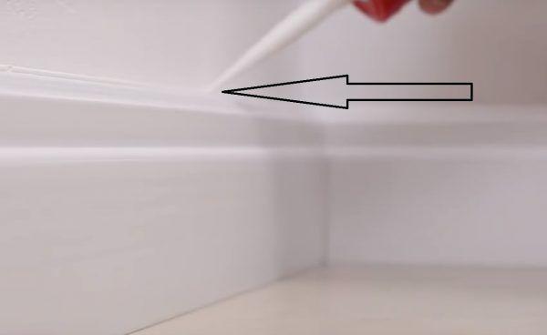 То же, но для стыка между стеной и плинтусом