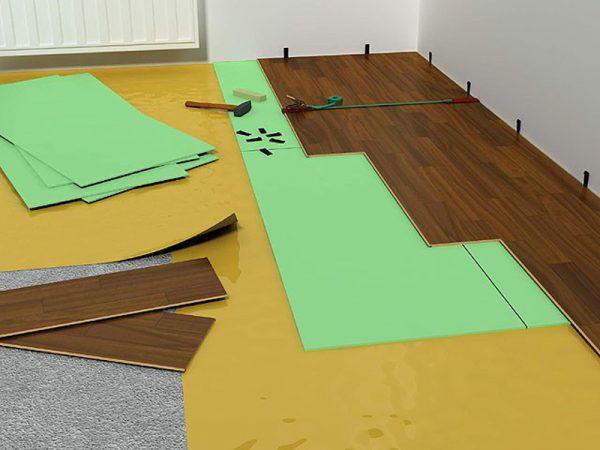 Укладка подложки под ламинат