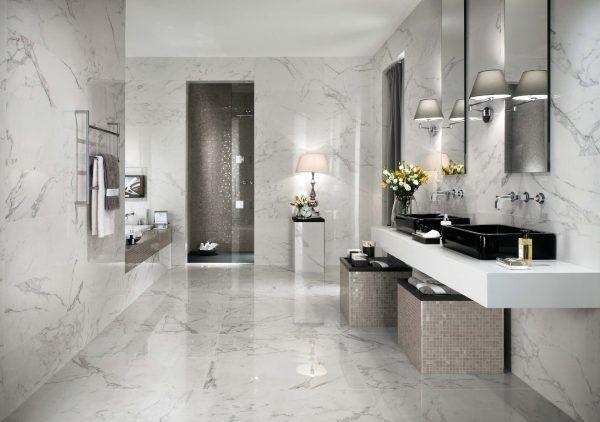 Ванная комната, отделанная плиткой