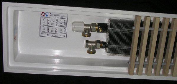 Внутрипольный конвектор FanCOil с корпусом из стеклопластика