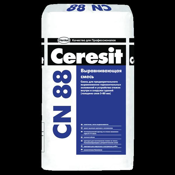 CERESIT CN 88. Смесь быстротвердеющая легковыравниваемая для стяжки 5-50 мм