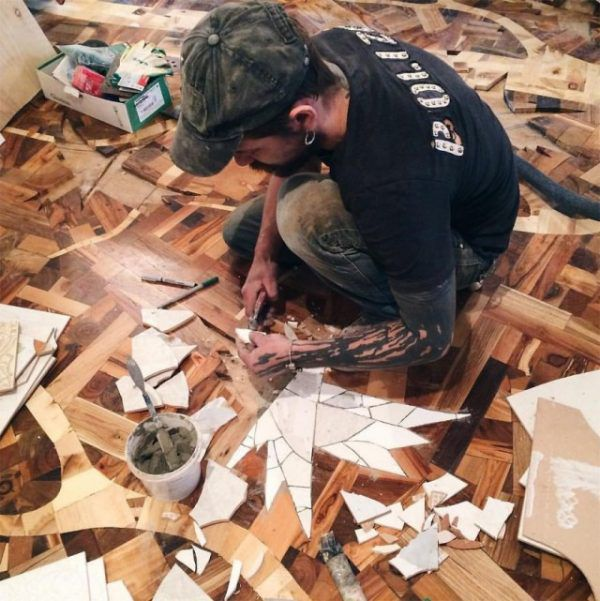 Дизайнерский пол из дерева