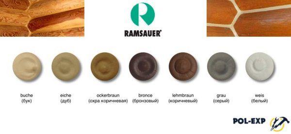 Доступные цвета герметика Adler Ramsauer