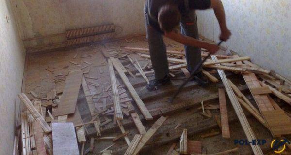 Капитальный ремонт напольного покрытия