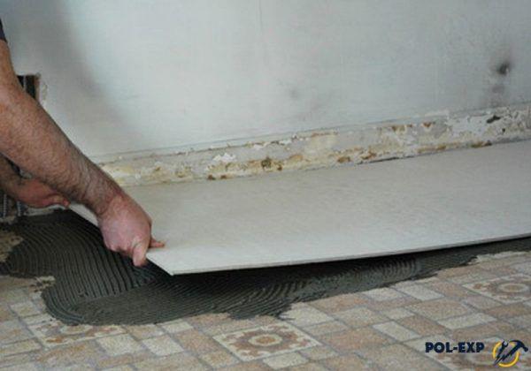 Монтаж плиты ЦСП под керамическую плитку