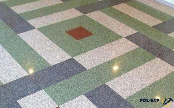 Мозаичный пол из мраморной крошки