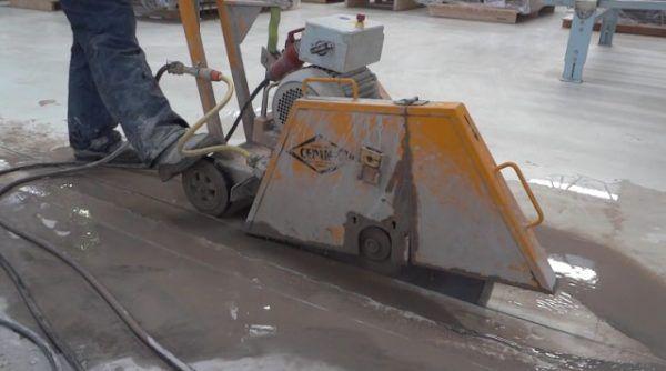 Нарезка швов в бетоне