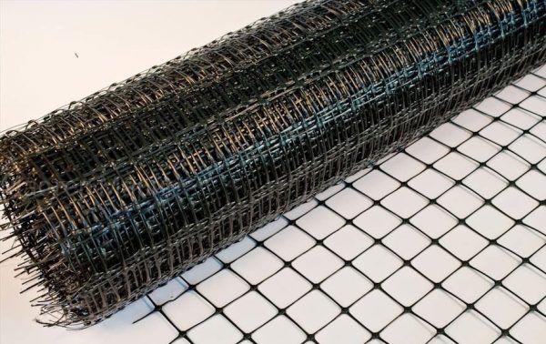 Пластиковая армирующая сетка для стяжки