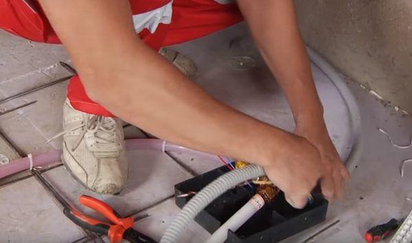 Подводка питающего кабеля