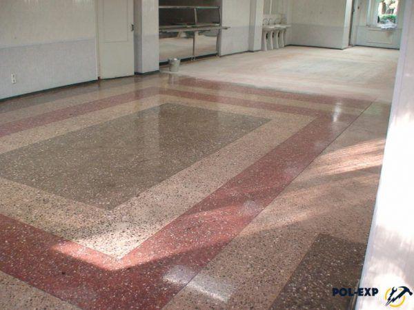 Пример бетонно-мозаичного пола