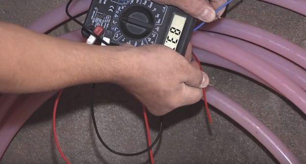 Проверка греющего кабеля на соответствие сопротивлению