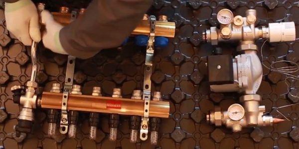 Сборка насосно-смесительного узла