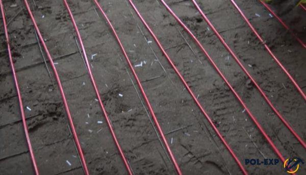 Укладка кабелей теплого пола