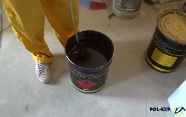Подготовка гидроизолятора к нанесению