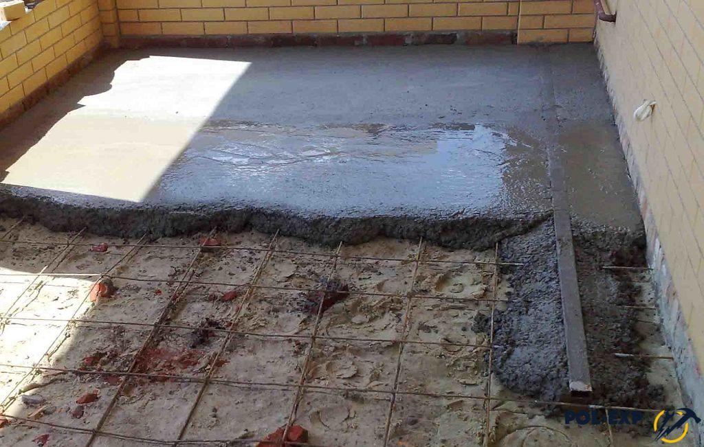 Стяжка из цементного раствора армированная бетон защита