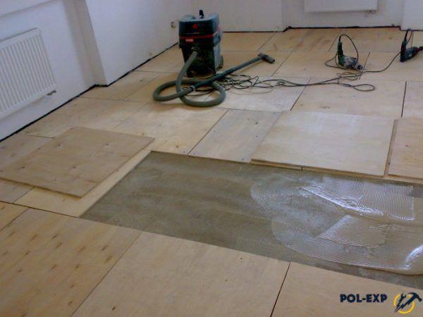 Фанера на бетонный пол