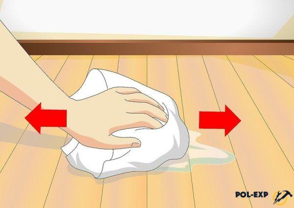 Используется влажная ткань