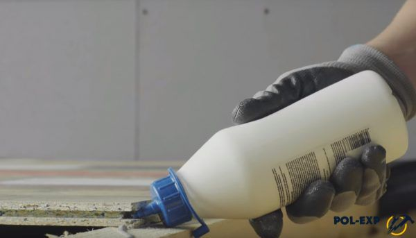 Обработка шпунта водостойким ПВА Д-3