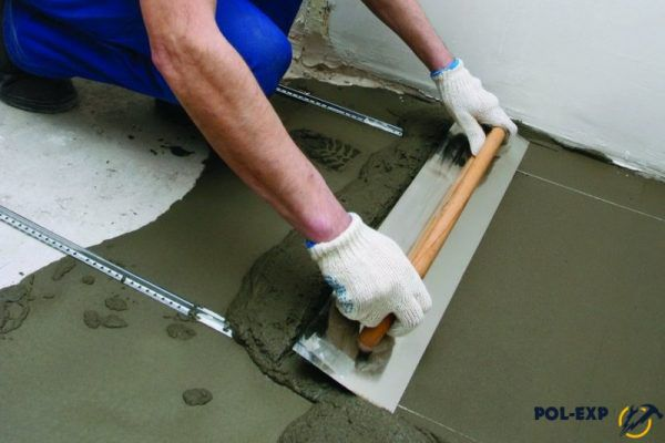 Обустройство цементно-песчаной стяжки пола