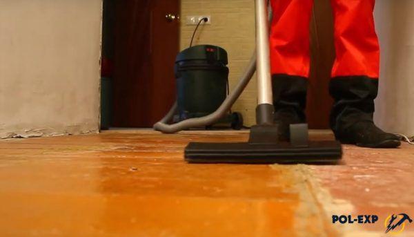 Очистка деревянного пола