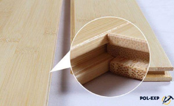 Соединение паркетных досок из бамбука