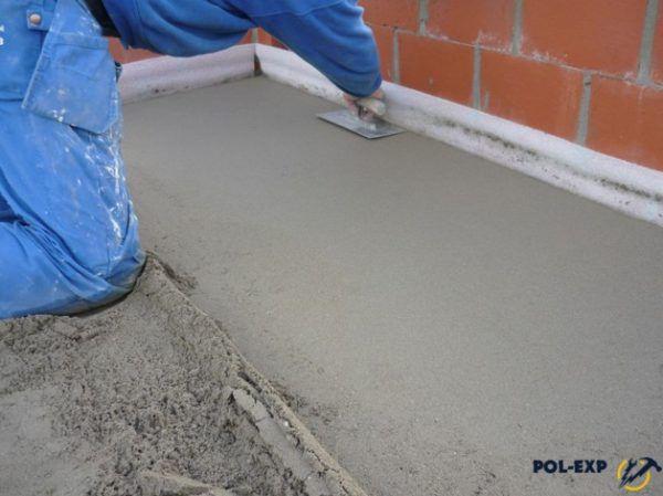 Цементно-песчаная стяжка