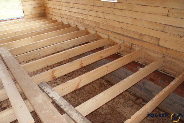 Устройство деревянного пола по лагам