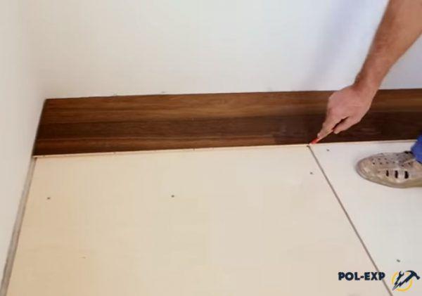 Разметка границ на подложке