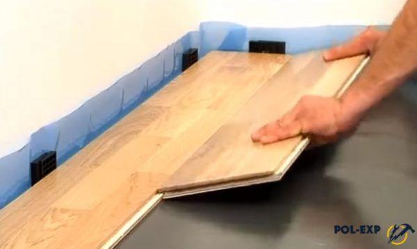 Укладка доски второго ряда