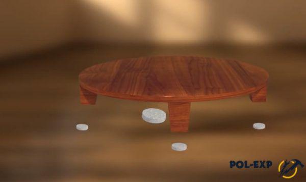 Используйте накладки на ножки мебели, чтобы ламинат прослужил дольше