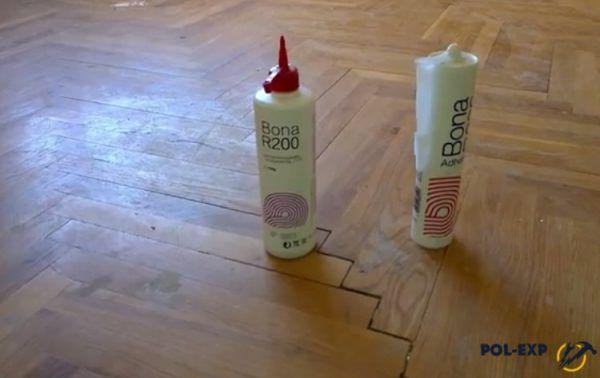 Однокомпонентный полиуретановый паркетный клей для проведения ремонтных работ